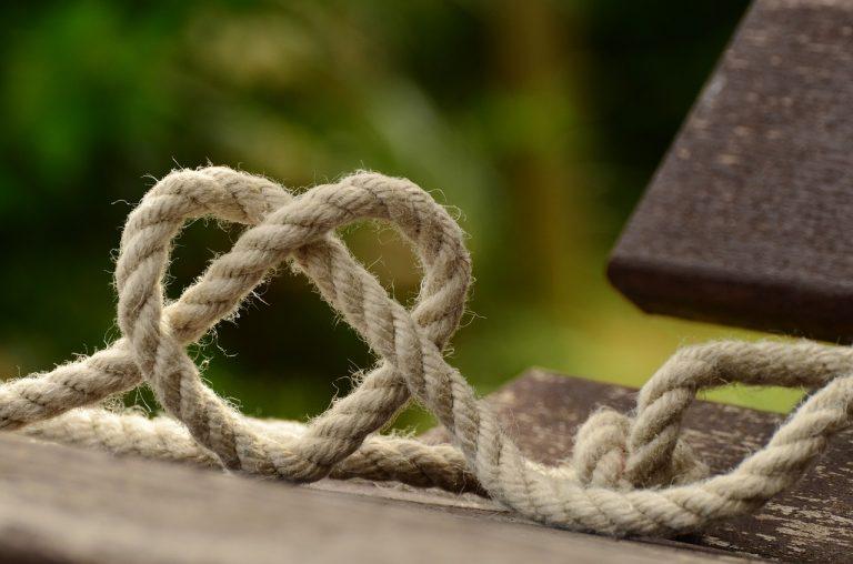 rope, knitting, heart
